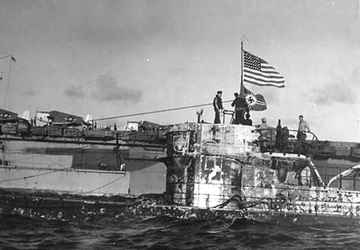 This the U-505 boarded by USS Pillsbury DE-133 during WW-II